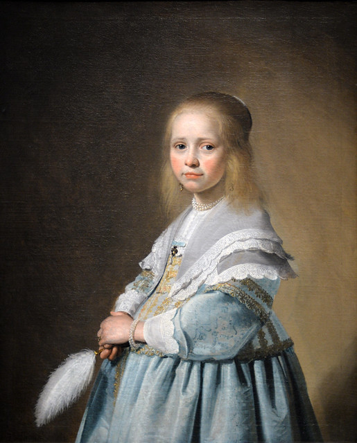 Portrait of a Girl Dressed in Blue, Johannes Cornelisz Verspronck (c. 1600-1662)