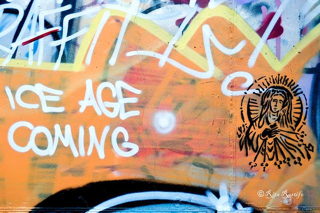 Roma. Magliana. Street art.