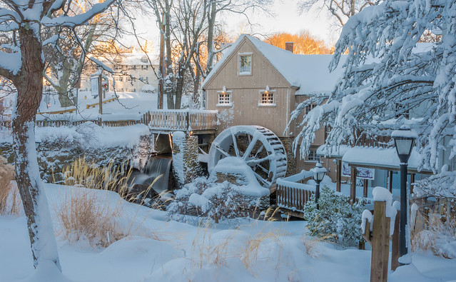 SNOWY MORNING AT THE MILL