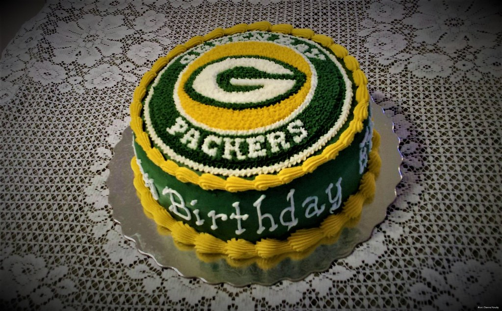 Phenomenal Green Bay Packers Birthday Cake The Bakery Fairy Flickr Personalised Birthday Cards Rectzonderlifede