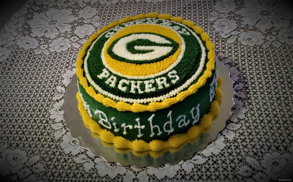 Sensational Green Bay Packers Birthday Cake The Bakery Fairy Flickr Personalised Birthday Cards Veneteletsinfo