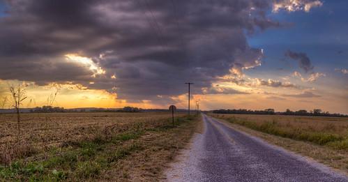 sunset panorama fall rain clouds mo missouri waldron 2015