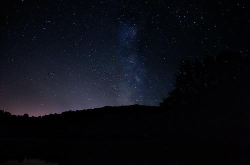 Lake under the stars | by Sean X. Liu