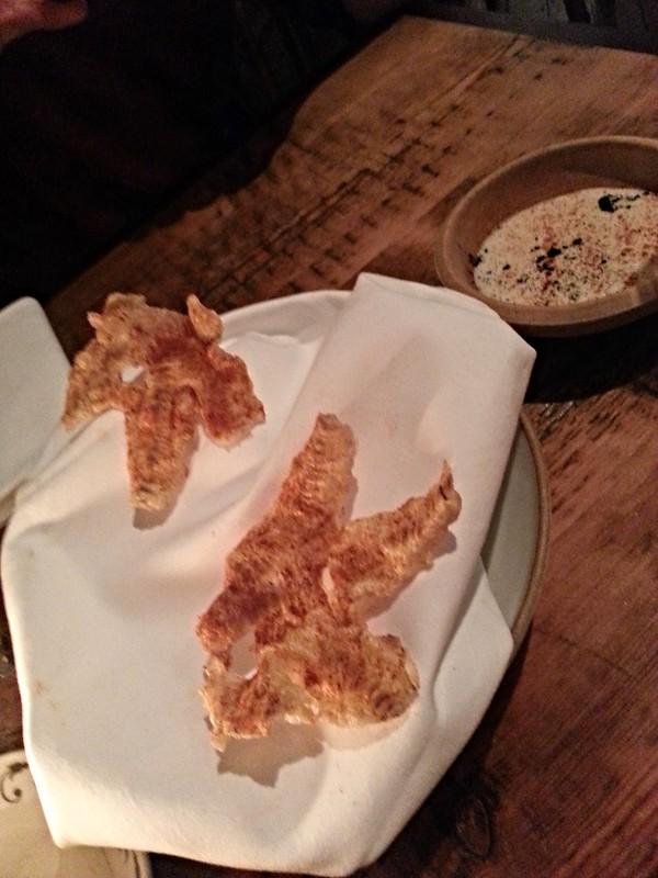 The Clove Club - crispy chicken legs