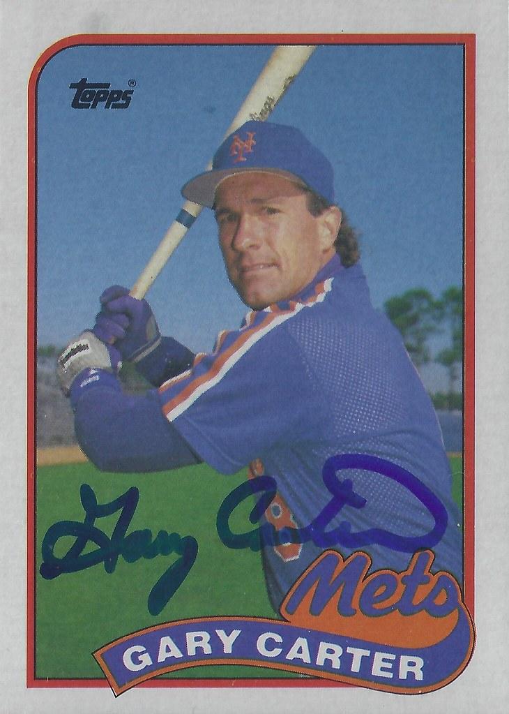 1989 Topps Gary Carter 680 Catcher Hall Of Fame 2003
