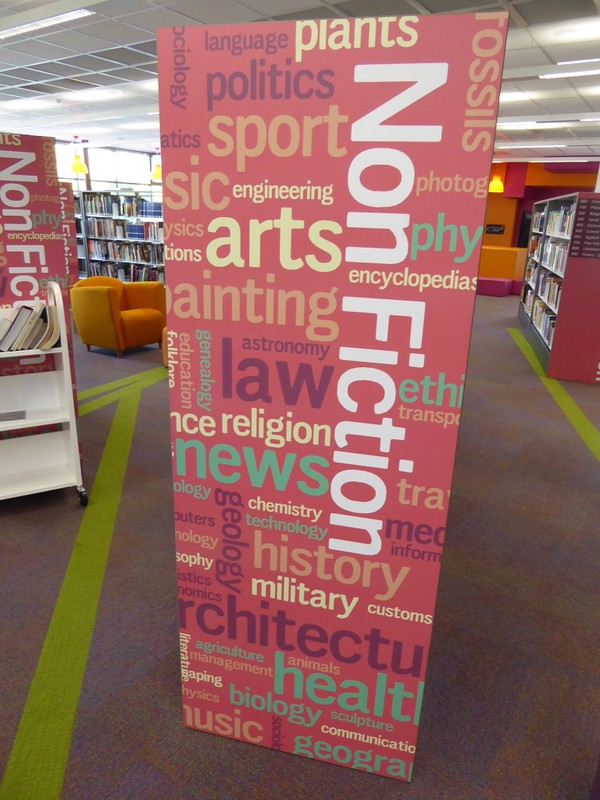 location signage - Grafton Library