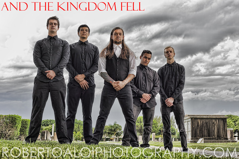 "Photo shoot with ""And the Kingdom Fell"""