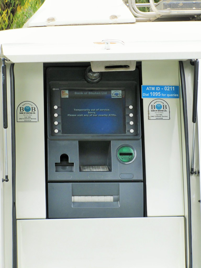 ATM's in Bhutan-one of the main bhutan travel tips