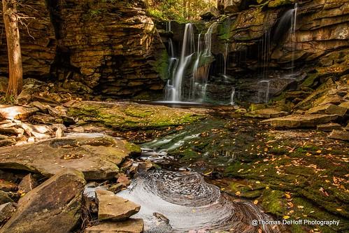 waterfall long exposure blackwater falls state park elakala west virginia sony a700