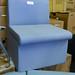 Grey Fabric Reception Chair