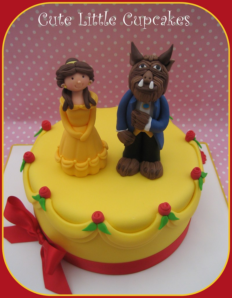 Prime Beauty The Beast Birthday Cake A Photo On Flickriver Funny Birthday Cards Online Elaedamsfinfo