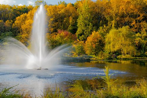meadowlark virginia autumn fall fountain landscape sunrise water