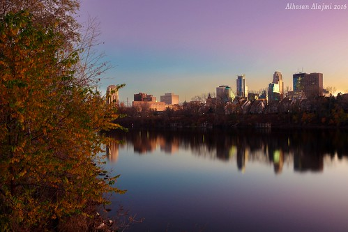 Downtown Minneapolis from Boom Island Park