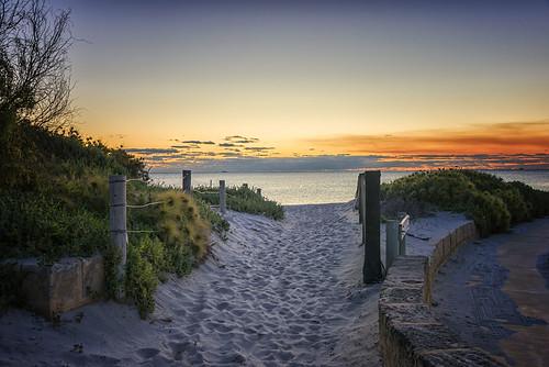 perth fremantle westernaustralia australia wa sunset dusk beach southbeach