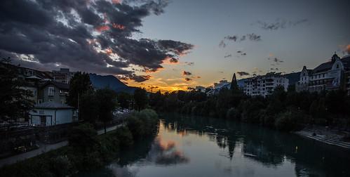 sunset landscape cityscape solnedgång villach