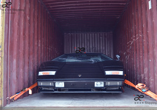 Lamborghini Countach shipping / export from Dubai UAE | by AEON SHIPPING