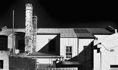 light shadow chimney bw architecture buildings mono back nikon shadows rear australia monotone victoria lane shops vic laneway gippsland warragul leanto lateafternoonlight 3820 austpctagged pc3820 phunnyfotos