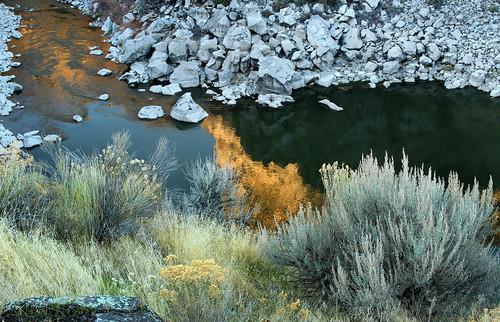 arbyreed water river stram snakeriveridaho twinfallsidaho sage sagebrush sunset rabbitbrush twin falls idaho