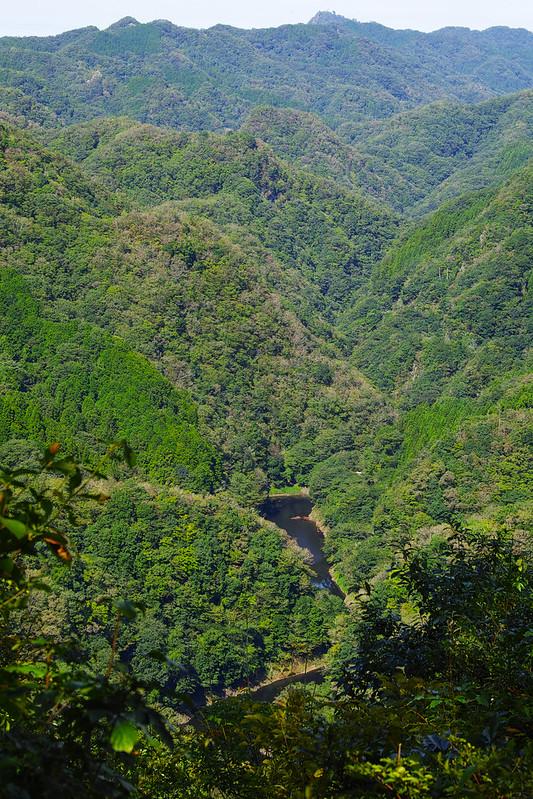 赤岩展望台から見た竜神峡