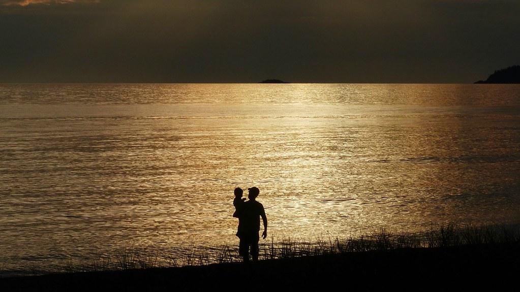 Lake Superior-Evening at Algoma Beach