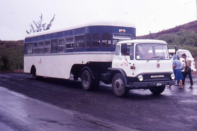 Ascension Island  Bedford TK school bus