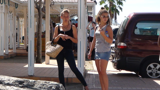 Random Girls at Marigot (St. Maarten) Farmer's Market