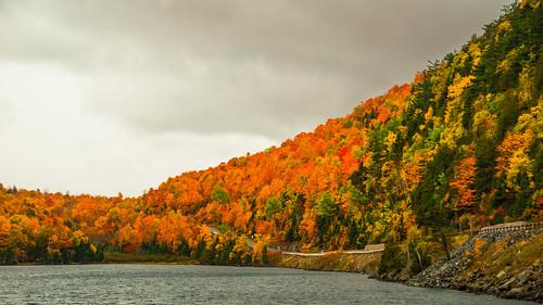 scenicview newyork landscape river nature scenic outdoor panorama fall cascadelake cascadebrook keene unitedstates us