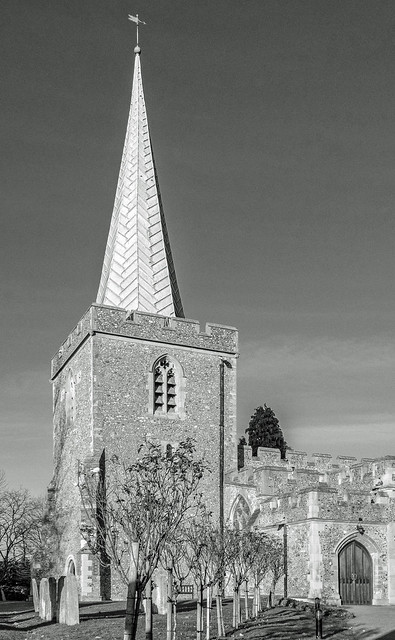 St Nicholas Church - Stevenage - Hertfordshire (BW) Panasonic Lumix LX15 Compact