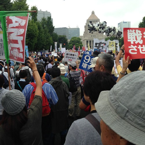 Protest over Japanese military law, Aug. 30, 2015 | by Takeshi Nishio