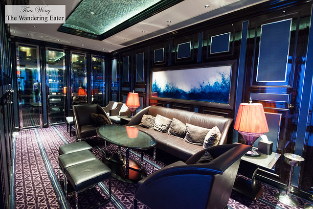 Private lounge area at Tosca