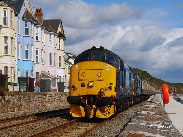 Direct Rail Services 37425 at Dawlish