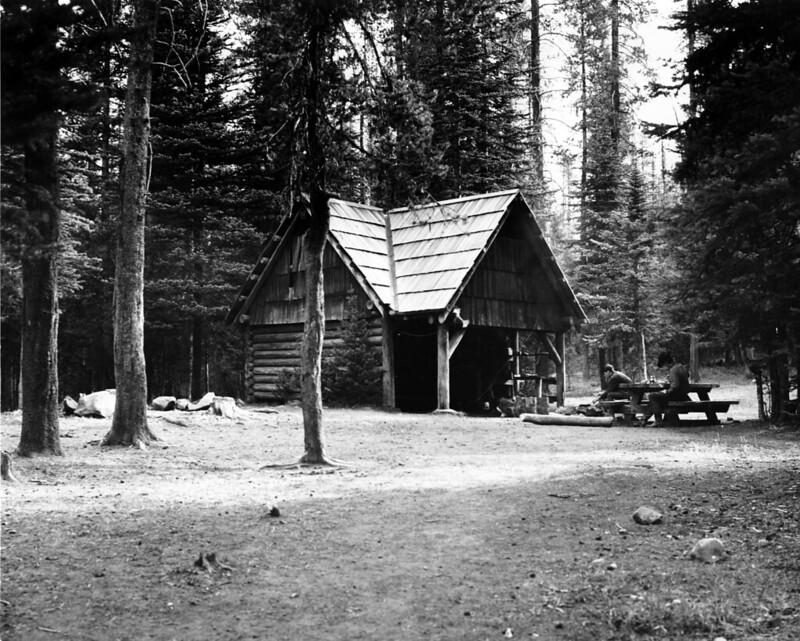 Willamette NF - Horse Lake Shelter, Willamette NF, OR 1969 Frear