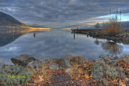 road railroad winter sunset cloud sun lake reflection beach up set clouds sunrise reflections bench way walking pier dock bc pacific okanagan rail railway down joe columbia canadian valley wharf british garcia rise benches ok cpr josé hdr penticton naramata okanogan benchs peachland summerlad joeinpenticton