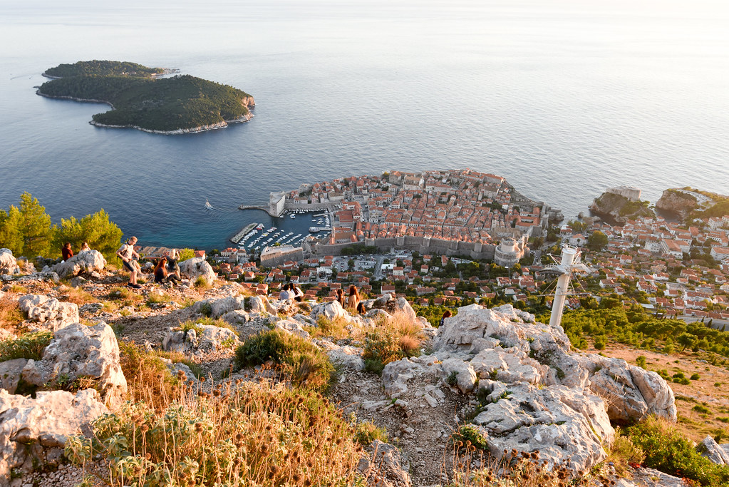 Вид с холма на Дубровник, Хорватия