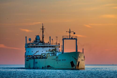 toronto boat cherrybeach lake ontario ship sky sunset vehicle water