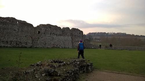 Lindsay at Eynsford Castle Kent castle ruins