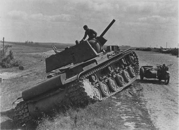 KV-1 101st tank division on the road