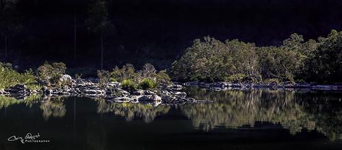 camping reflection river australia nsw dorrigo nymboidariver platypusflat