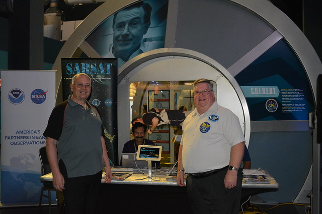 GOES-R Exhibit Information Table at Kennedy Space Center