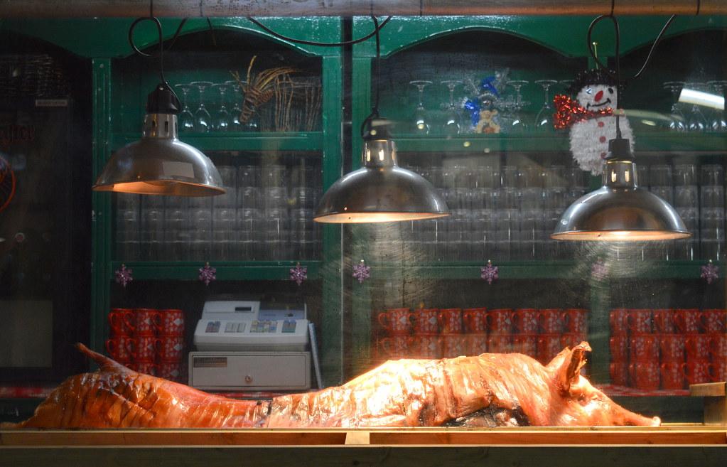 Hog Roast at Manchester Christmas Markets 2015   © 2015 Tony