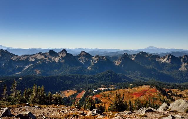 A Vista Like View Across the Paradise Area and Tatoosh Range (Mount Rainier National Park)