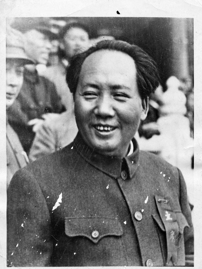 Mao Zedong After Establishing Peoples Republic 1950 Flickr