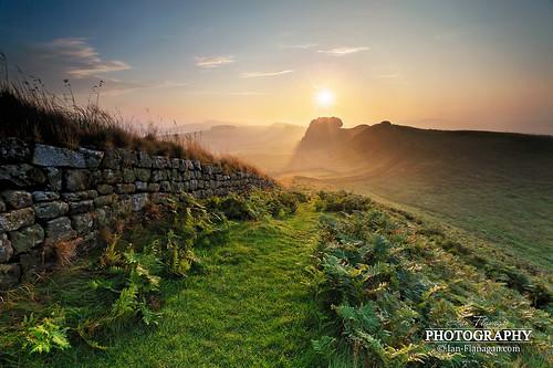 morning sun mist overgrown yellow sunrise canon landscape photography eos northumberland nd 5d hazy hadrianswall ndfilters lglass ef1740mm leefilters 5dmkiii 5dmk3 ianflanagan