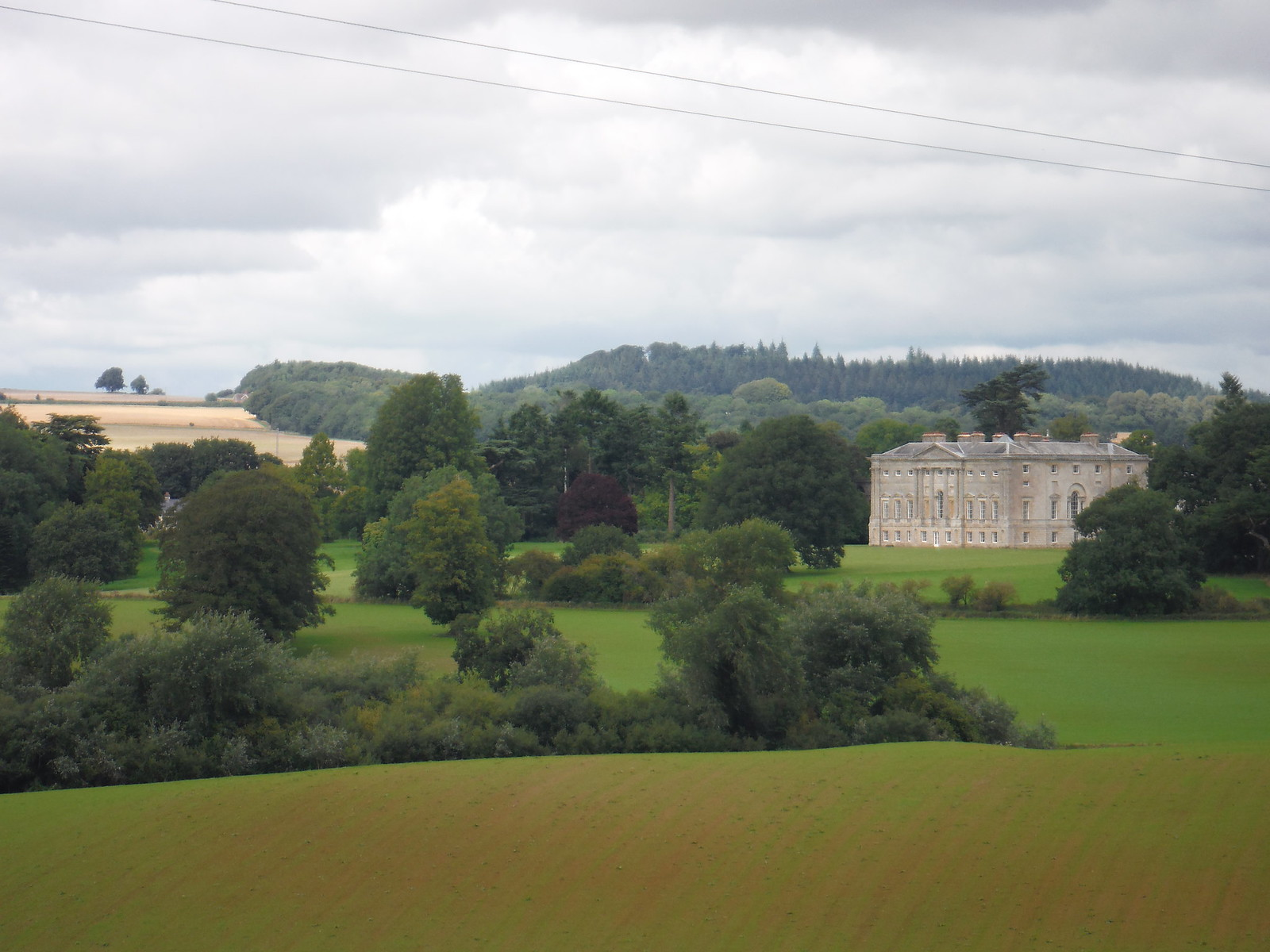 New Wardour Castle from across Wardour Park (II) SWC Walk 251 Tisbury Circular via Ludwell and Berwick St. John