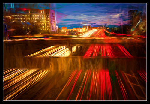 longexposure painterly night dallas texas artistic dusk tx sony freeway citylights lighttrails topaz hss carlighttrails