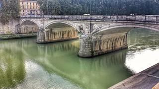 Bridge across the river in Roma