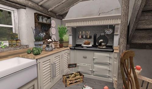 Farmhouse_Kitchen Stove | by Hidden Gems in Second Life (Interior Designer)
