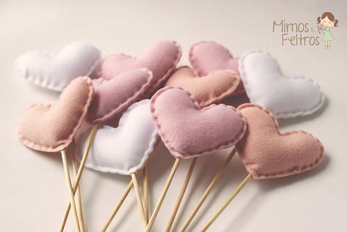 Corações de feltro | by Mimos e Feltros