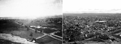 park county trees houses ohio rock farmhouse landscape rising pond corn cityscape view scenic hills mount henry lancaster fields intersection roads overlook fairfield pleasant thenandnow residences nowandthen dwellings rephotography 2015 tilefactory ca1860 tombarger