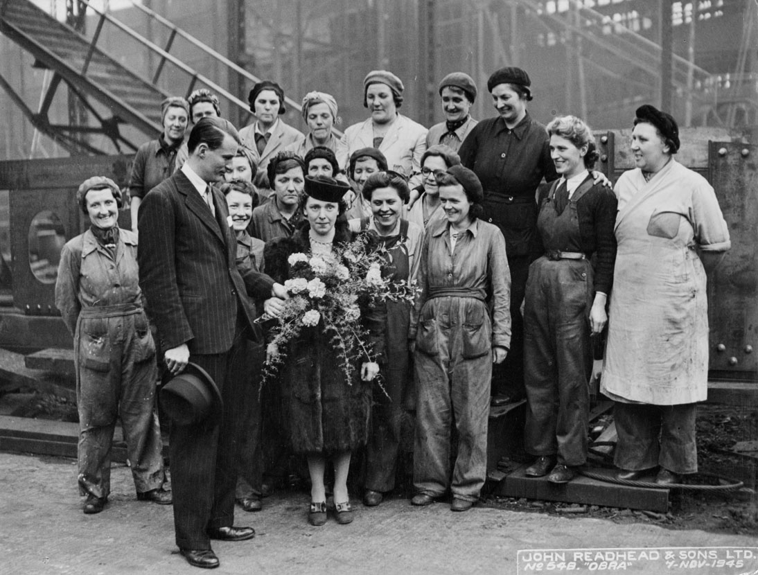 Female shipyard workers at South Shields